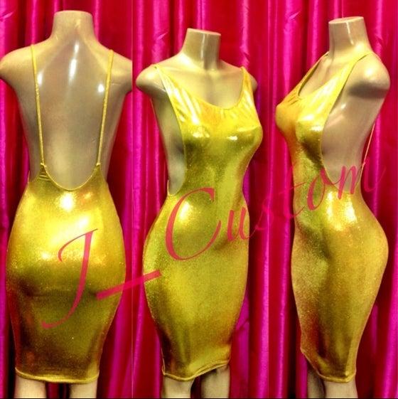 Image of Gold SideBoob Dress