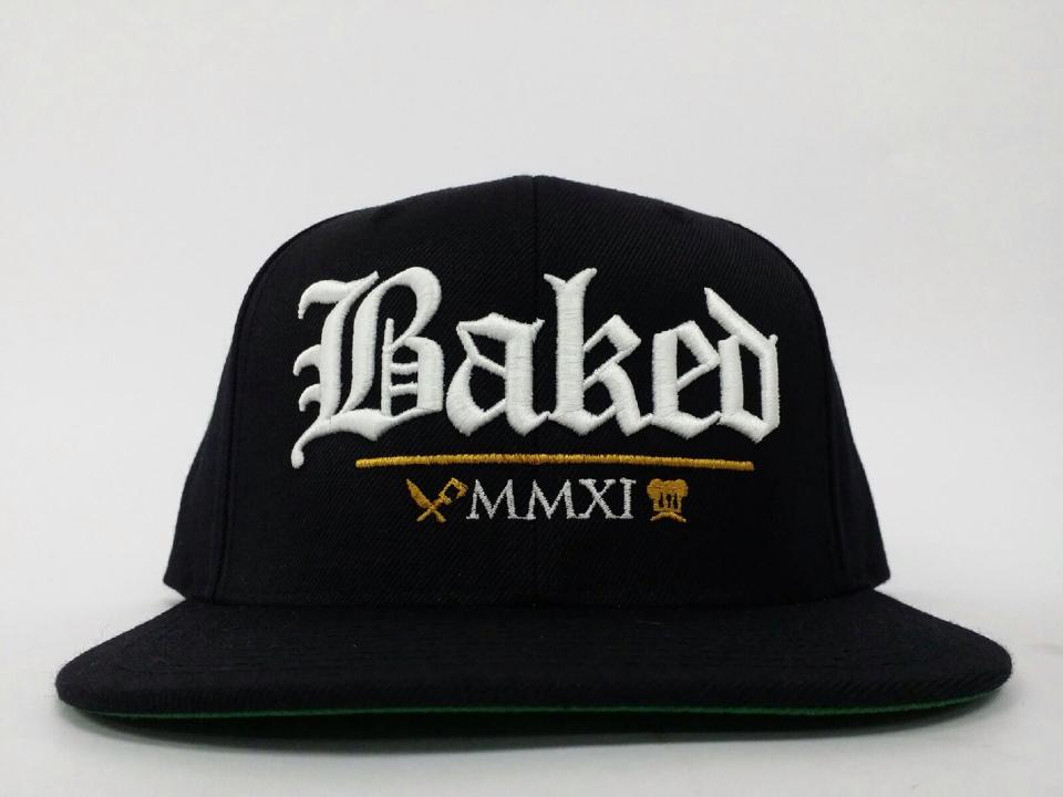 Image of Baked Snapback (White/Gold)