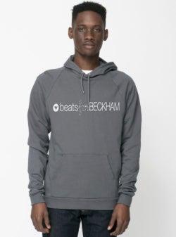 Image of UNISEX grey BECKHAM Hoodie - PRE ORDER