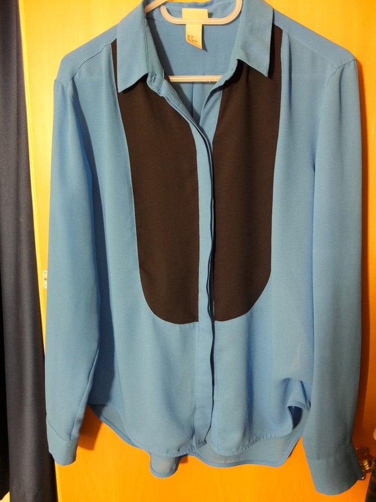 """Image of Blue """"tux"""" shirt"""