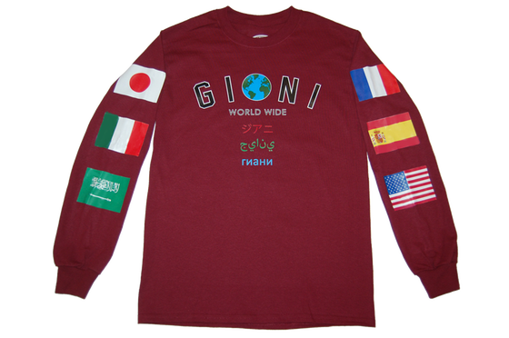 Image of 'The World Is Mine' Longsleeve (Burgundy)