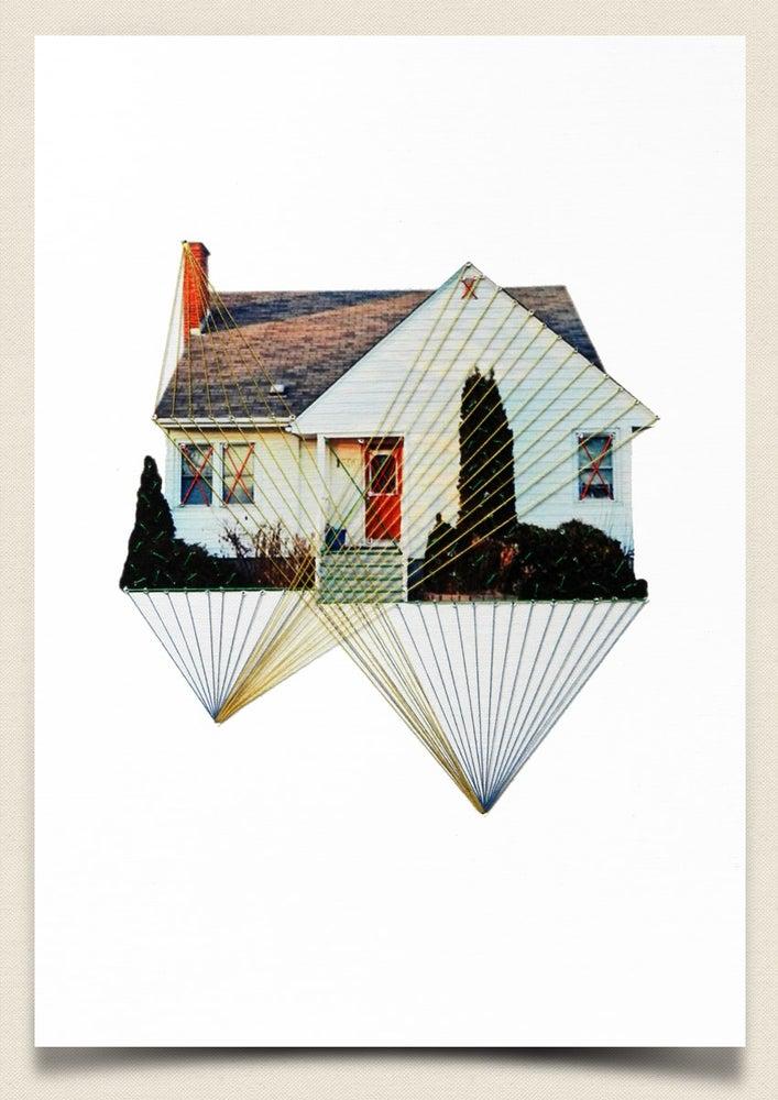 "Image of Original hand threaded art work: ""Rising"""