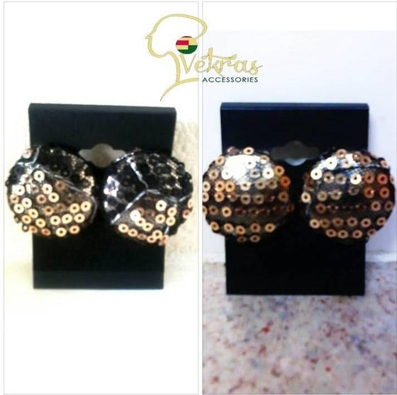 Image of Vekras Sequined Stud-Earrings