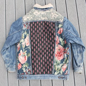Image of HILL&VELEZ X LeROY JENKINS DENIM JACKETS SHEEP LINED