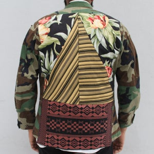 Image of HILL&VELEZ X LeROY JENKINS CAMO MILITARY SHIRT/JACKET