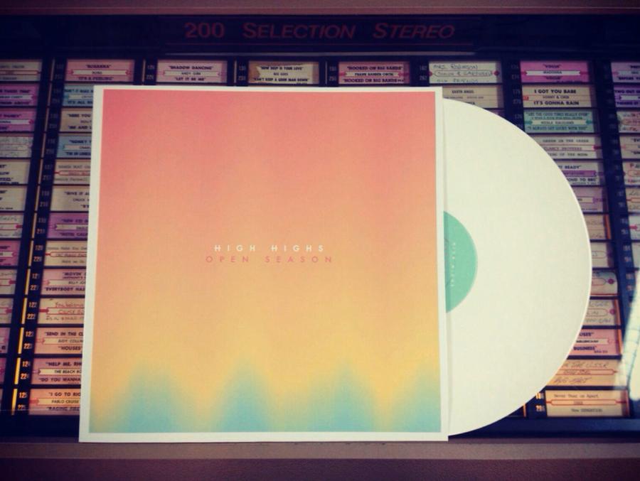 """Image of High Highs """"Open Season"""" Vinyl LP - White"""