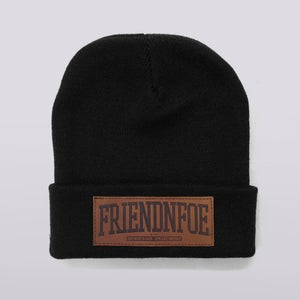 Image of The Leather Patch Beanie v1