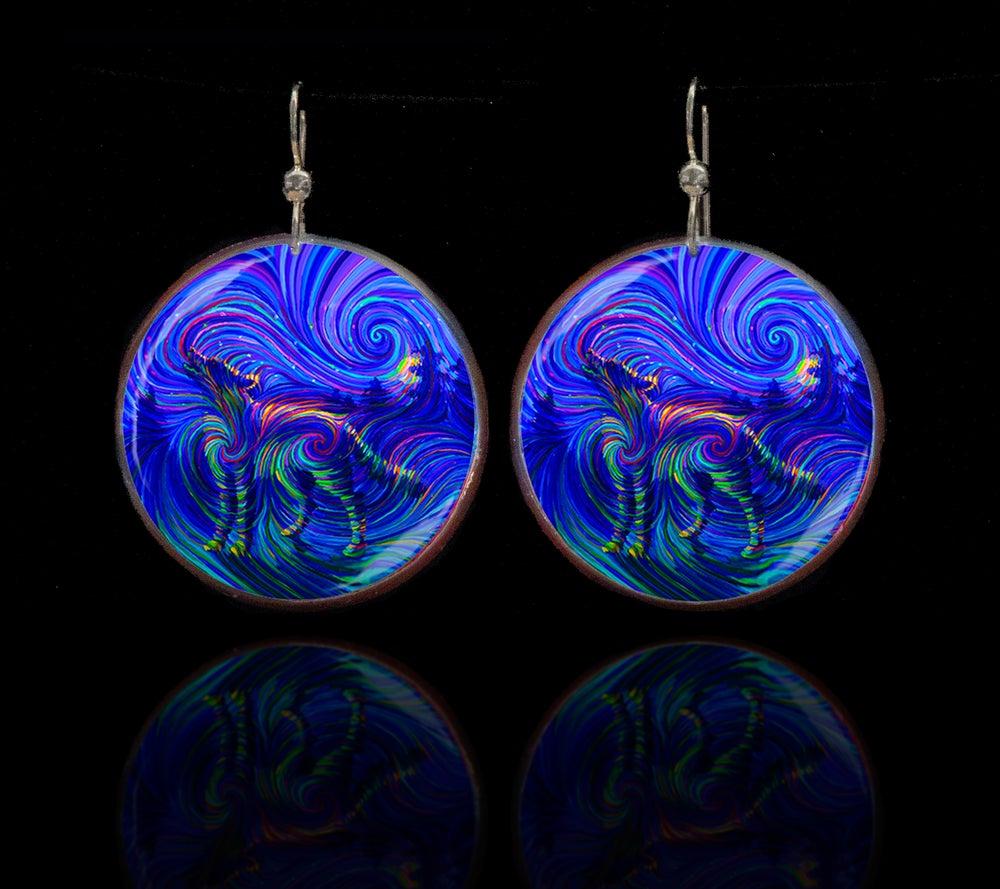 Image of Spirit Wolf Energy Earrings