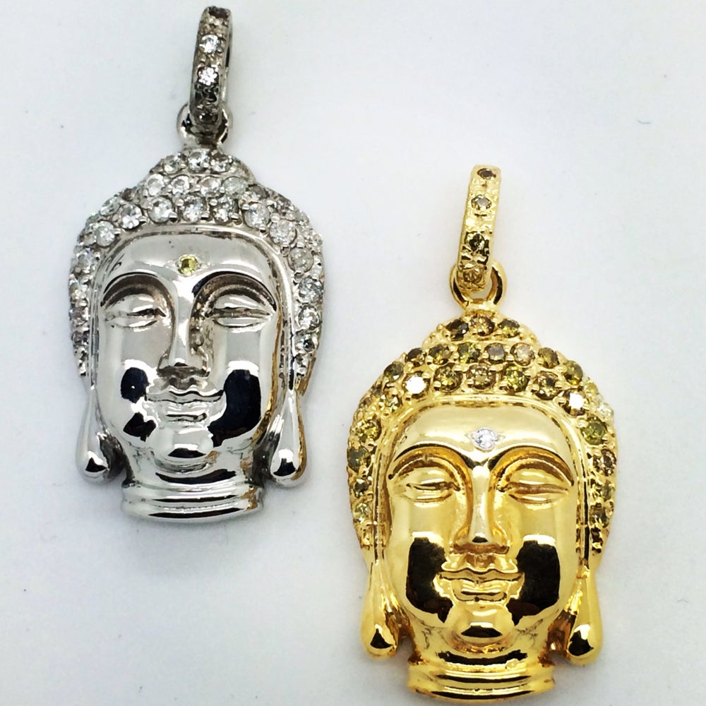 Image of Micro Diamond Buddha Pendant