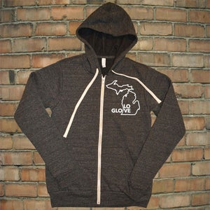 Image of Glove Love Unisex Full Zip Hoodie