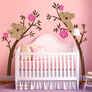 Image of NEW!! Australian Koala Bear Wall decal sticker - Tree Branch Wall decal wall sticker -wall decor