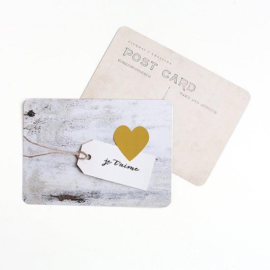 """Image of Carte Postale """"JE T'AIME / COEUR"""""""