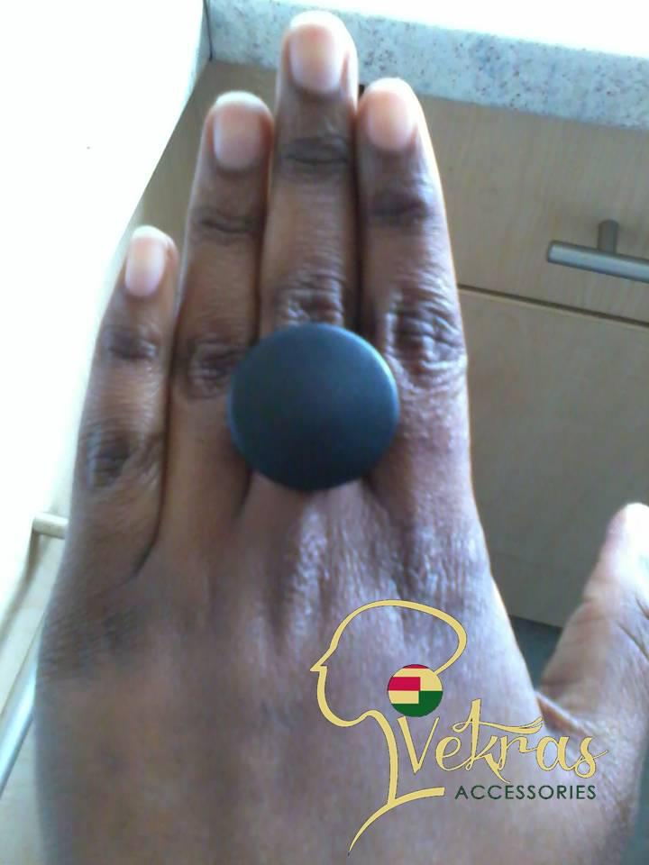 Image of Vekras Black Leather Ring