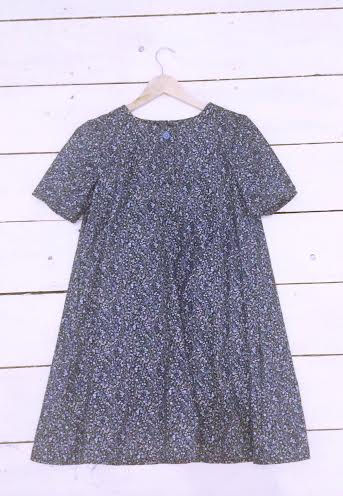 "Image of Blue Floral Ditsy Babydoll Dress ""ONE SIZE FITS ALL"""