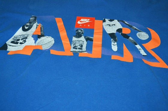 Image of VINTAGE NIKE AIR JORDAN 5 T-SHIRT BLUE