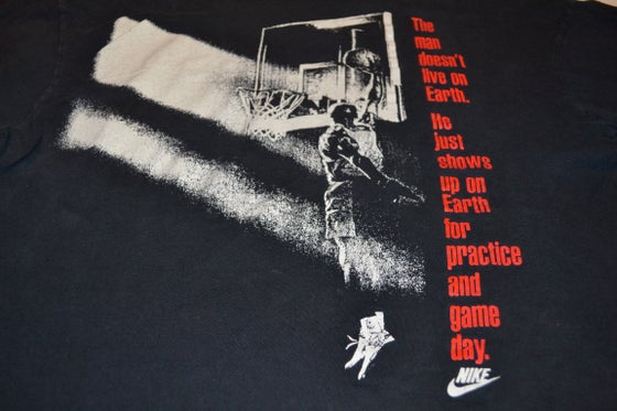 Image of VINTAGE NIKE AIR JORDAN T-SHIRT BLACK