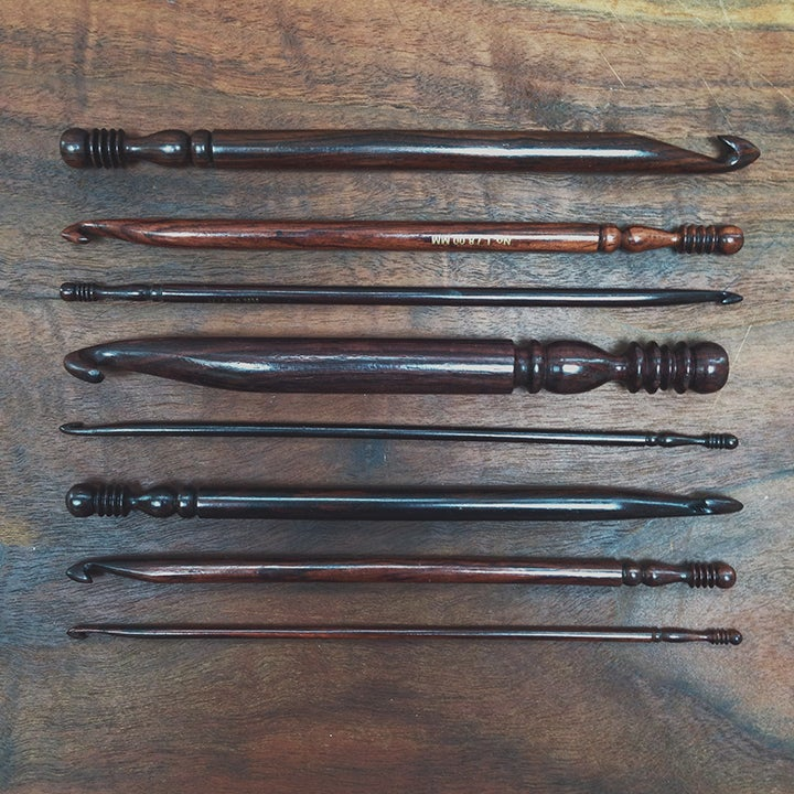 Image of Indian rosewood crochet hooks