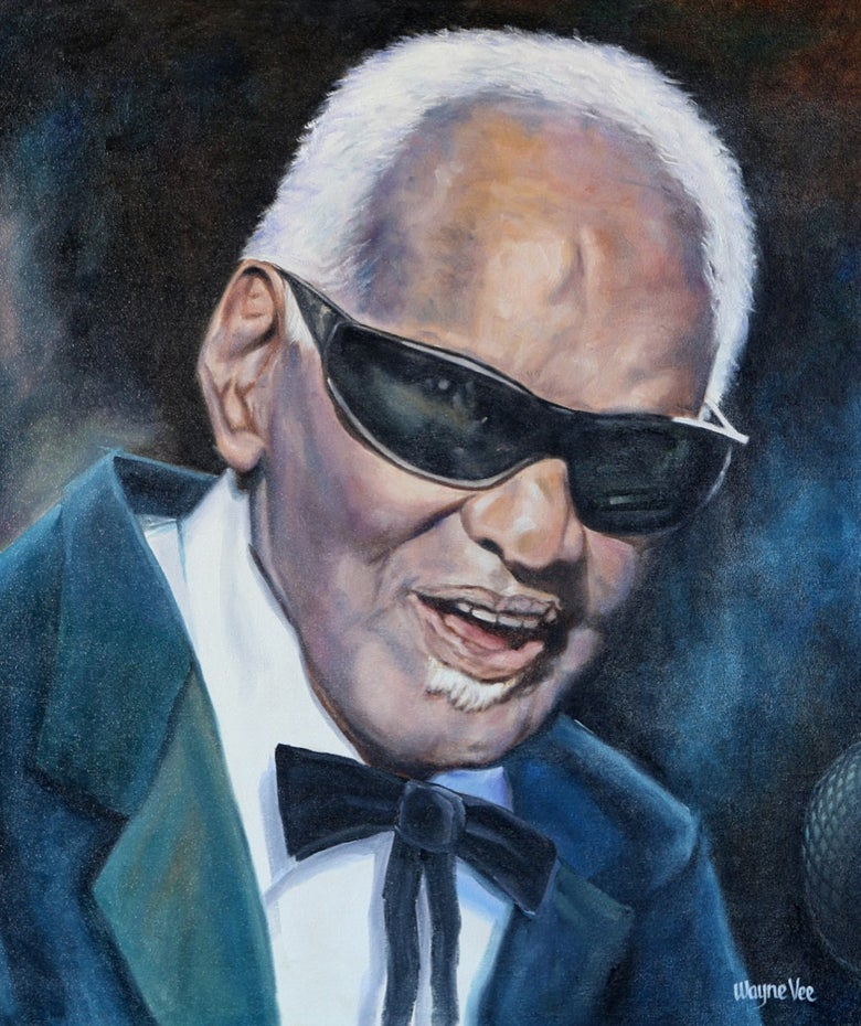 Image of RAY CHARLES • FINE ART PRINT