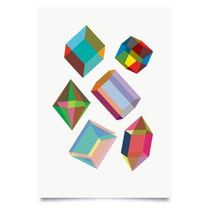 Image of Crystal set print
