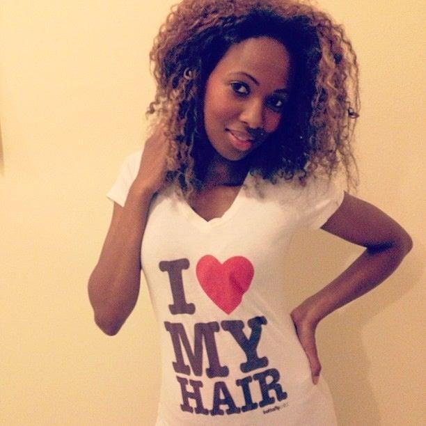 Image of I love My Hair- White Vneck