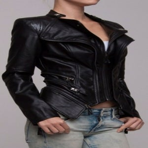 Image of Black biker jacket