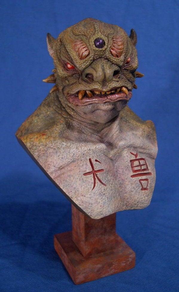 Image of Jordu Schell's Demon Dog resin bust