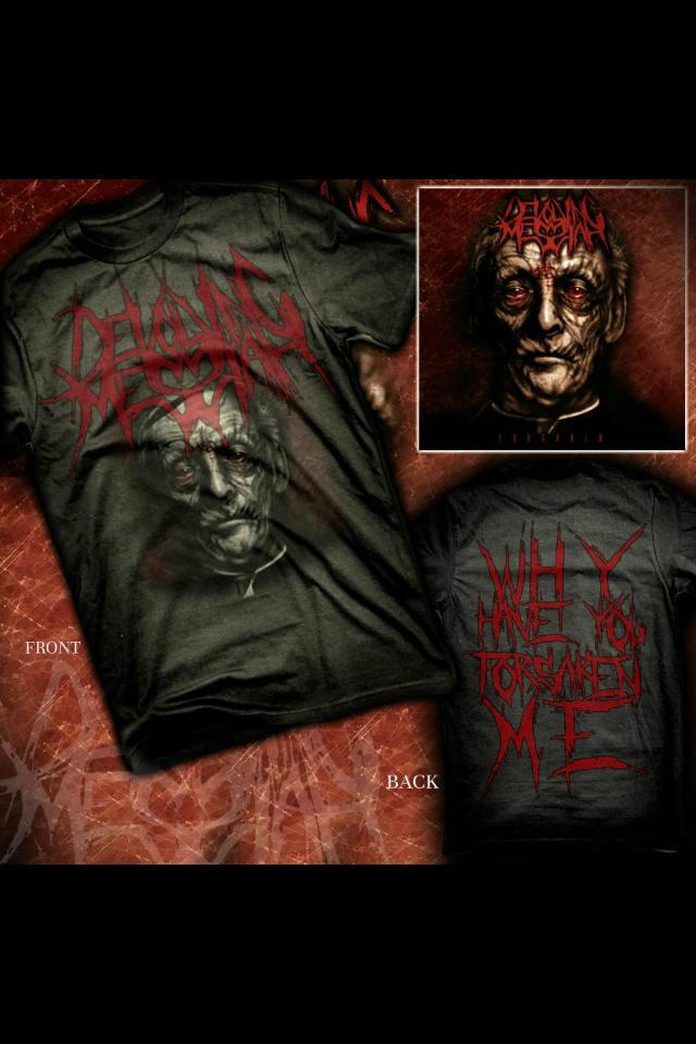 Image of Devolving Messiah Forsaken album T shirt