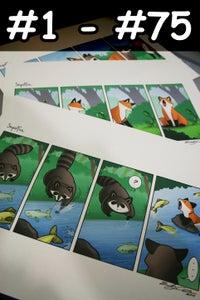 Image of Signed Prints + Original Sketch Card (#1 - #75)