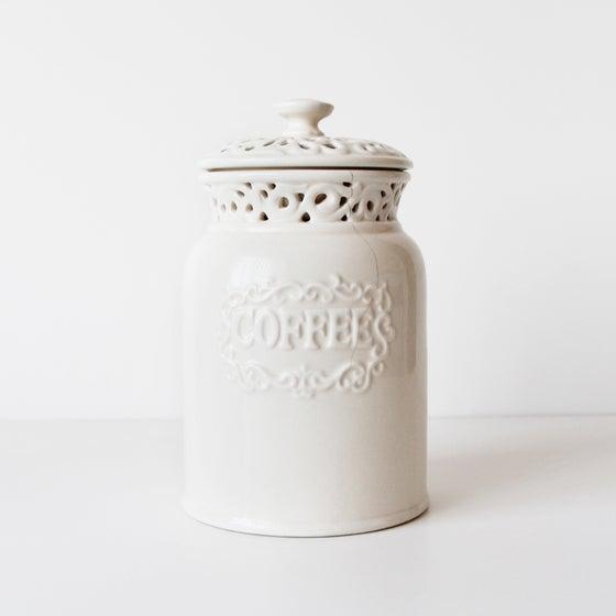 Image of Vintage Style Ceramic Coffee Jar