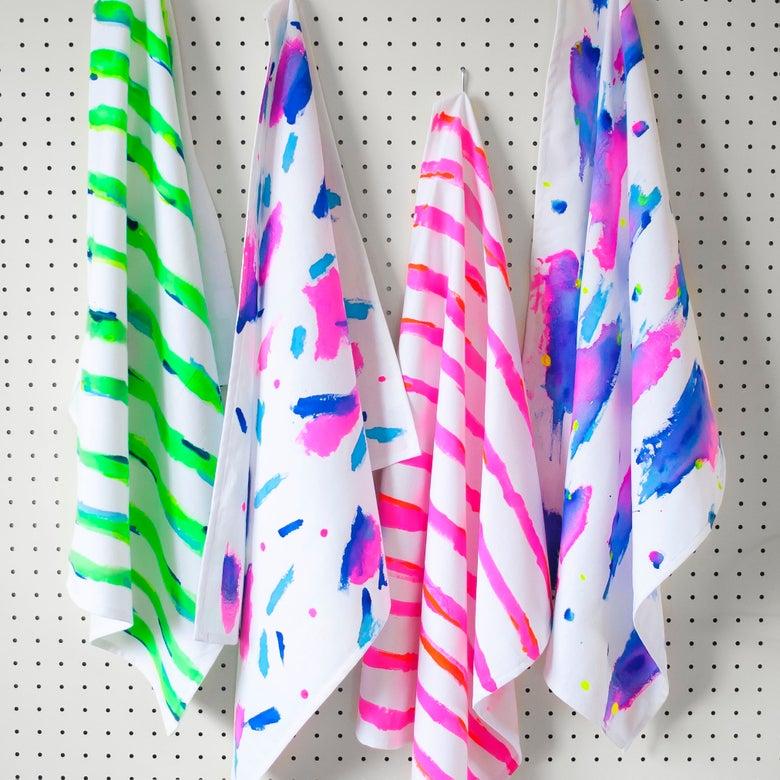 Image of Clumsy Colour Art Tea Towels