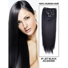 Image of 220 Grams Thick Long 9 PIECE Remy Clip on Hair Extensions + Volumizer