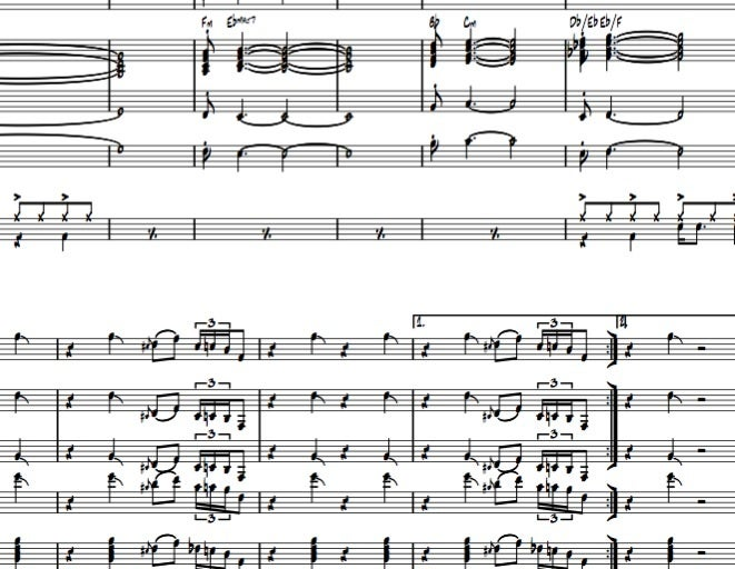 Image of TURKEY - Big Band version - Full score And parts