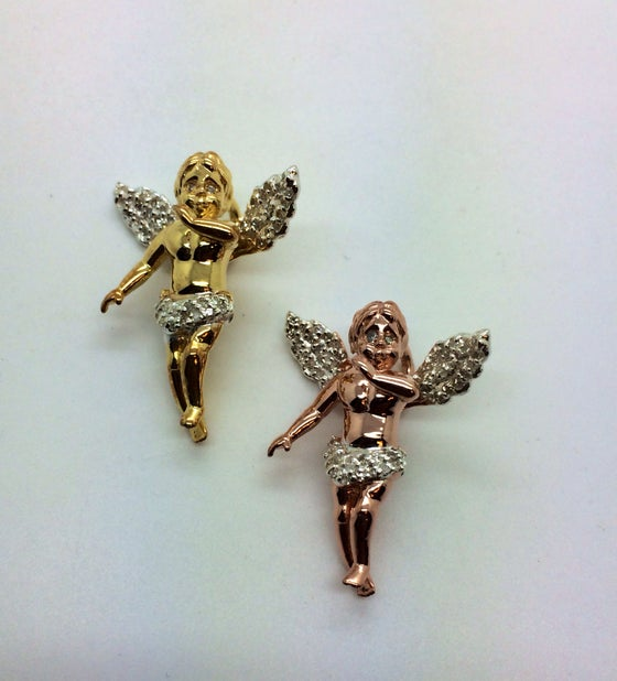 Image of 925 Silver & Diamond Micro Baby Angel Bundle