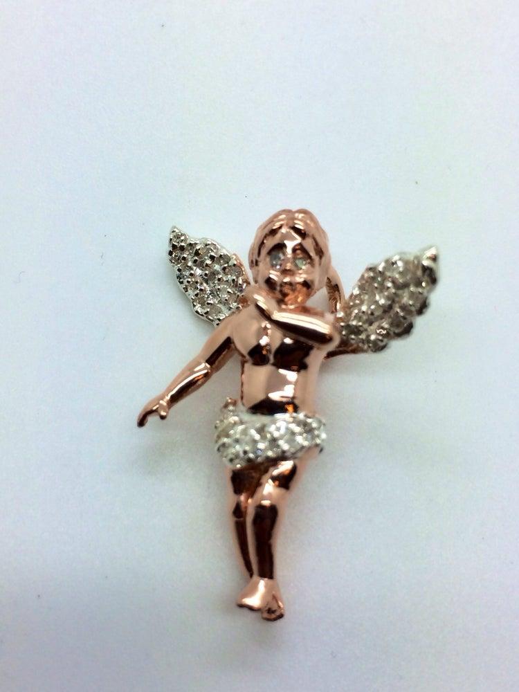 Image of 925 Silver & Diamond Micro Baby Angel Bundle
