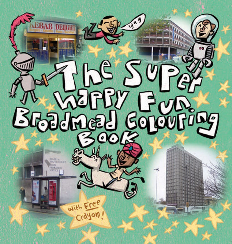 Image of The Super Happy Fun Broadmead Colouring Book (with FREE grey crayon).