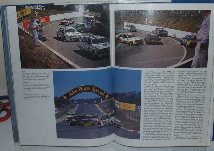 Image of Bathurst 1982. JH 1000. Great Race book. Peter Brock wins.