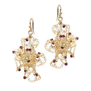 Image of Morph earrings with rubies - small