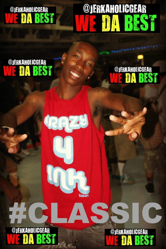 "Image of RED CRAZY 4 INK ""WINNING"" TANK TOP"