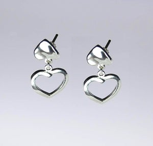 Image of Double Cuore earrings