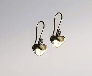 Image of Petite Cuore drops gold earrings