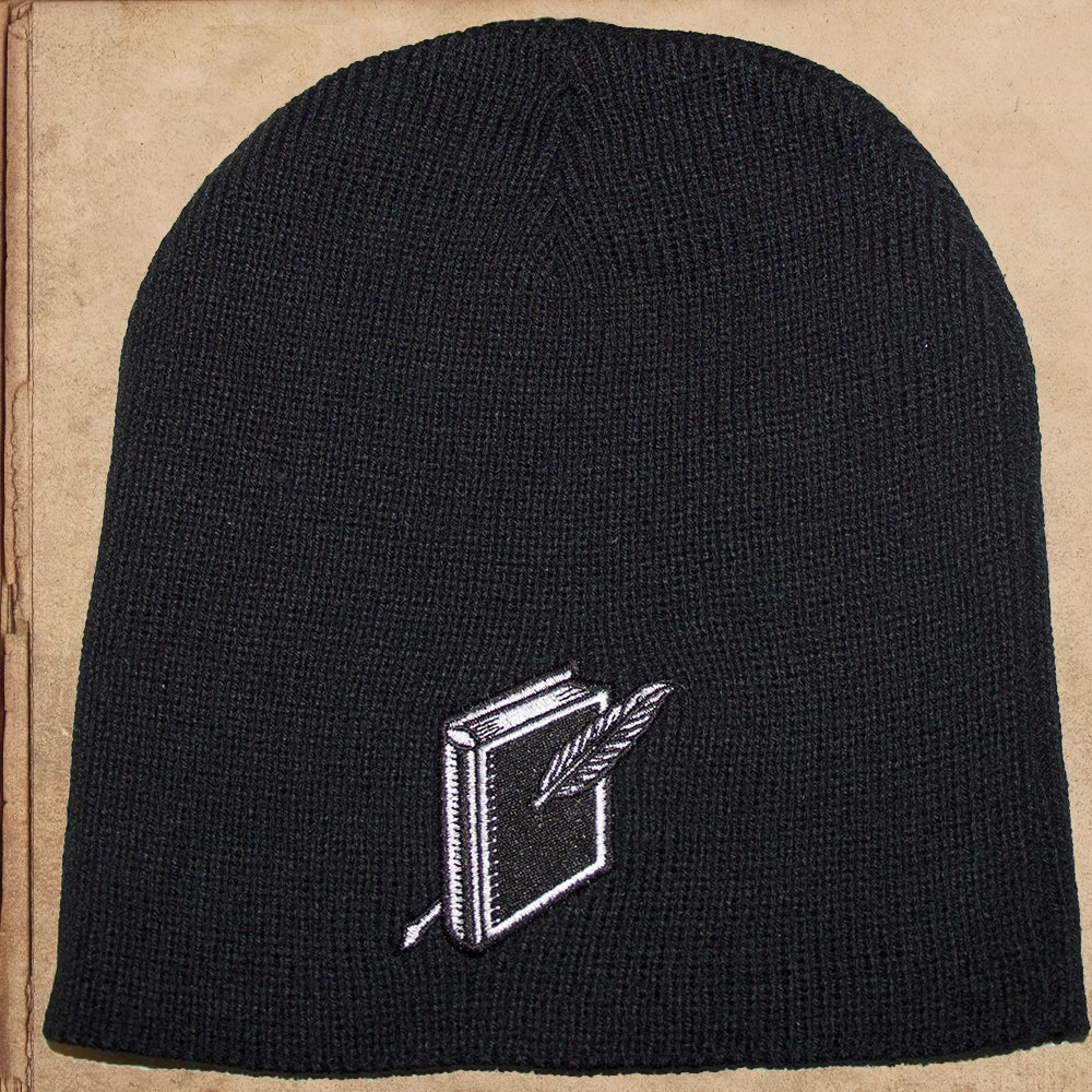 Image of Wool Beanie - Black or Brown - Embroidered Logo