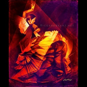 Image of Day 5 of Flamenco February. Original & prints.