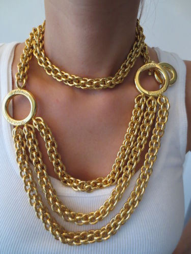 Image of Vintage Paloma Picasso Haute Couture Massive Chain Necklace