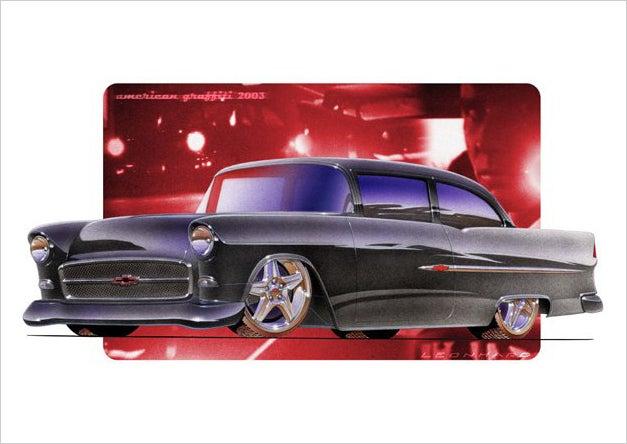 Image of 55 Chevy Shoebox PRINT