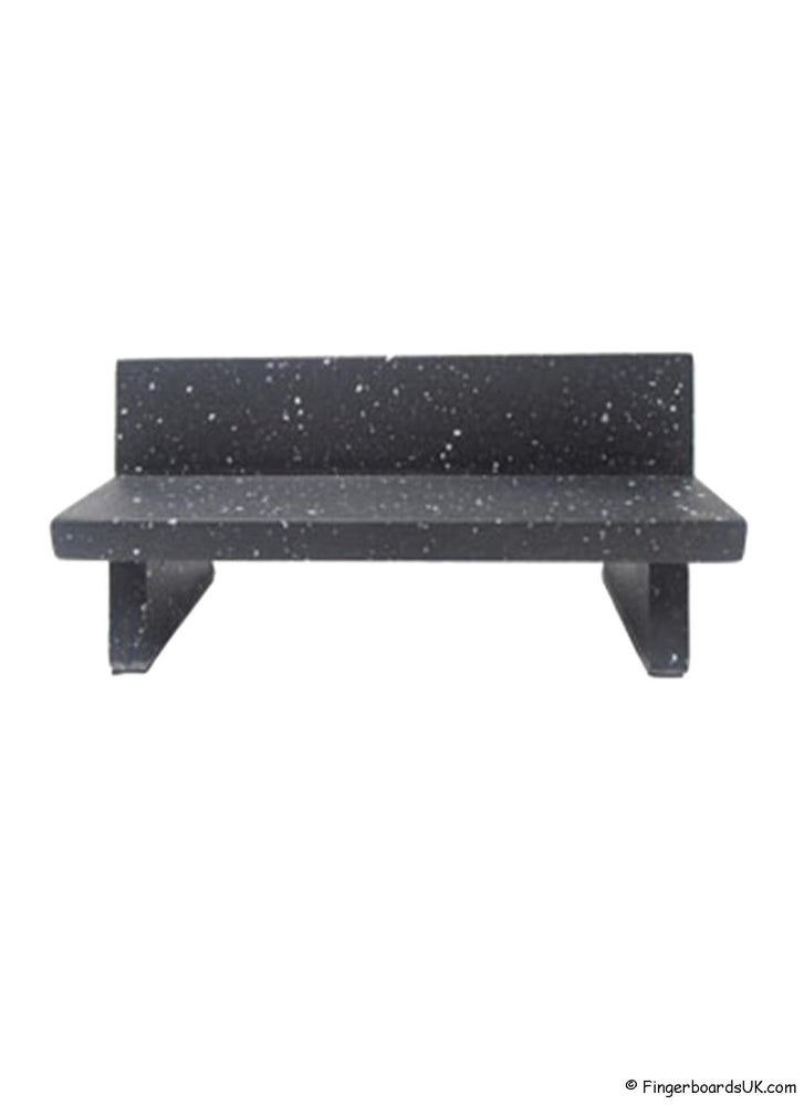 Image of Close Up Marble Bench Black