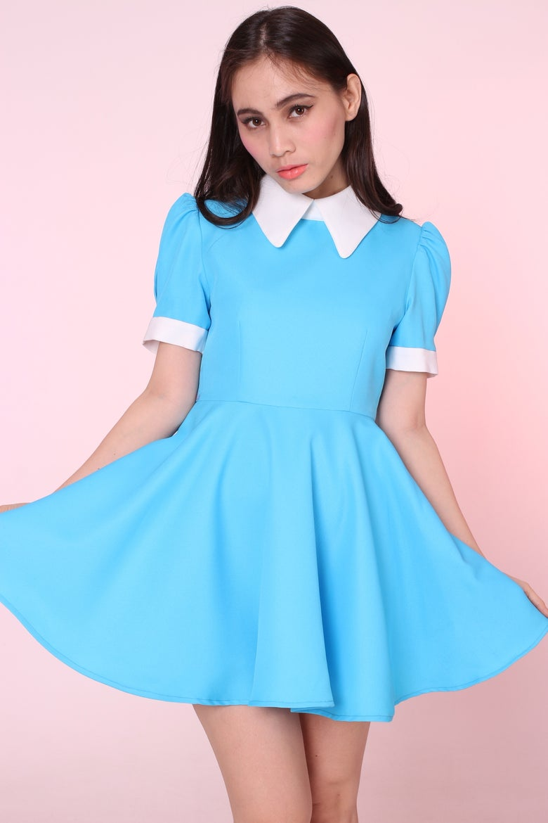 Image of MADE TO ORDER - Vintage Inspired Blue Alice Dress