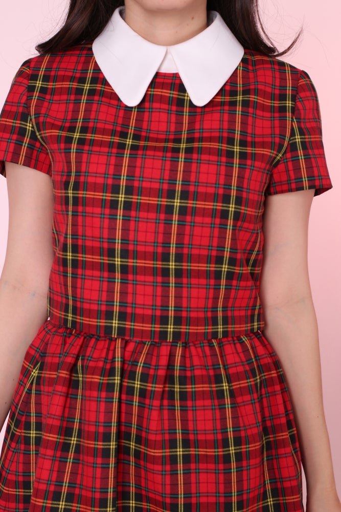 Image of Red Tartan Clueless Crop Top