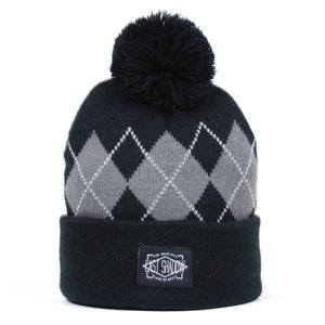 Image of Argyle Beanie (Black)