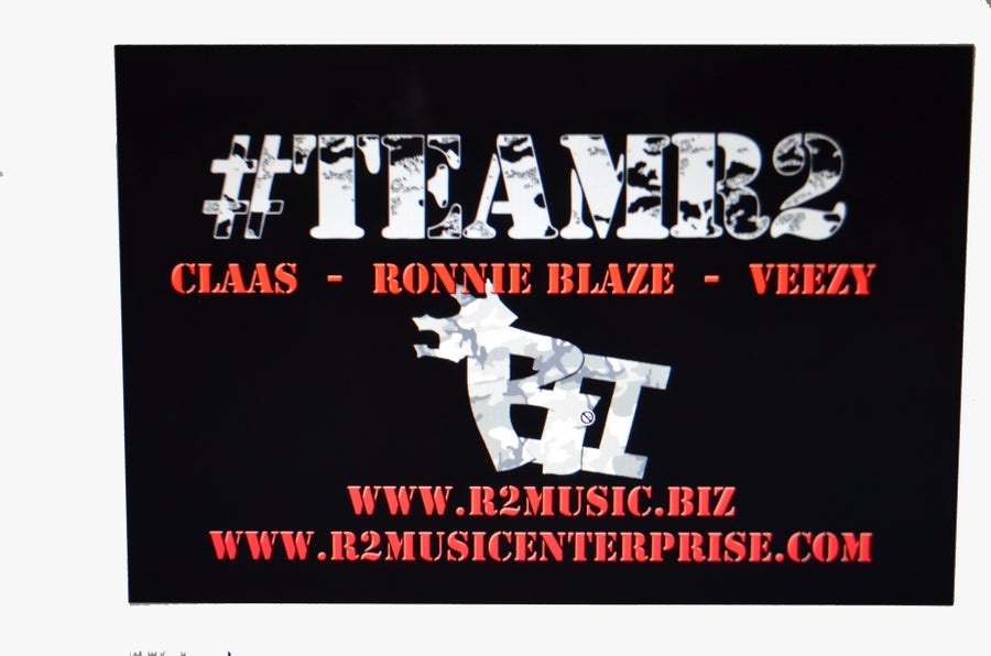 Image of AUTOGRAPHED 11 x 17 #TEAMR2 Poster!!
