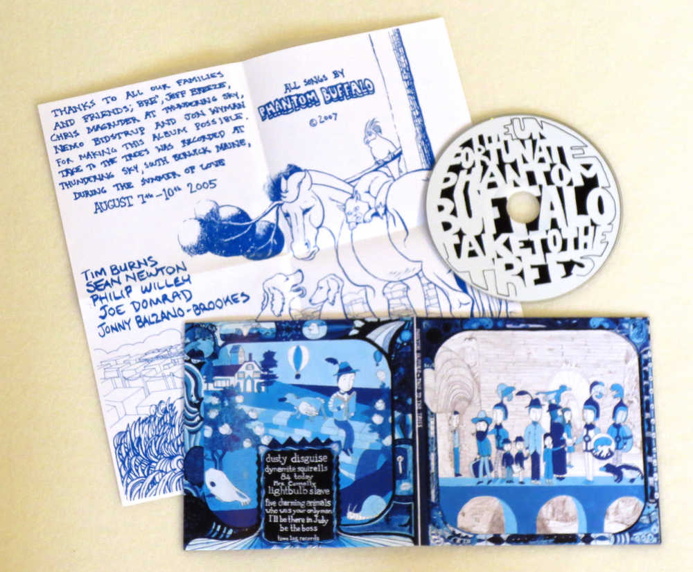 Image of PHANTOM BUFFALO ~ TAKE TO THE TREES ~ cd (TIME-LAG / RED RECORDS #3)